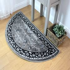 sincerity sherborne grey traditional half moon rug by flair rugs 1