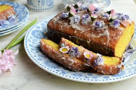 Lemon Drizzle Cake With Edible Flowers Recipe Great British Chefs