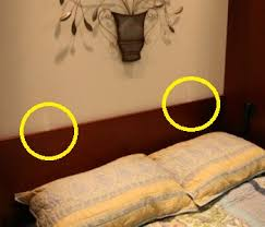 headboard lighting. with a two control system each light has its own conveniently mounted on the headboard just above pillows lighting o