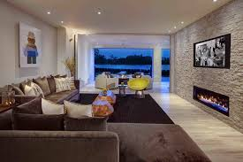 contemporary living room beige walls. stone-gas-fireplace-living-room-contemporary-with-art-beige-wall-brown | beeyoutifullife.com contemporary living room beige walls g