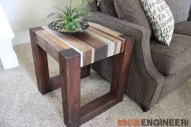 s wood side table free diy