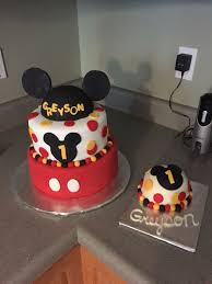 Mickey Mouse First Birthday With Smash Cake Cute Ideas Mickey