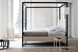 bamboo canopy floating bed frame