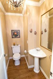 small pedestal sinks for powder room corner pedestal sink powder room traditional with brown walls chandelier small pedestal sinks for powder room