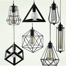 vintage style lighting fixtures. retro indoor lighting vintage pendant light led lights 24 kinds iron cage lampshade warehouse style fixture fixtures g