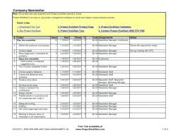 One Page Project Plan Template Manager Excel Business Plans ...