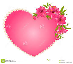 Beautiful Heart Design Beautiful Lily Bouquet With Hearts Stock Vector