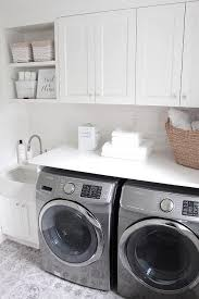 JSHOMEDESIGN- Laundry room decor with beautiful white quartz counter ...