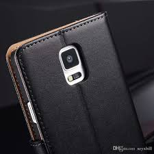 2018 genuine leather case for samsung galaxy note 4 n9100 wallet style flip stand phone back cover coque for samsung note 4 cases whole cell phone cases
