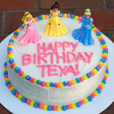 Princess Birthday Cake With Sprinkles On Top