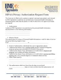 Hipaa Request Form Fillable Online Hipaa Privacy Authorization Request Form Hme