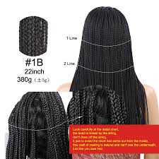 Braid Length Chart 18 22 Inch Black Wigs Box Braid Wig Heat Resisant Synthetic Braided Lace Front Wig For Women Celebrity Style Wigs Nice Wigs From Yaminghairstorte