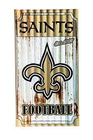 nfl new orleans saints corrugated metal wall art small multicolored on new orleans outdoor wall art with amazon nfl new orleans saints corrugated metal wall art small