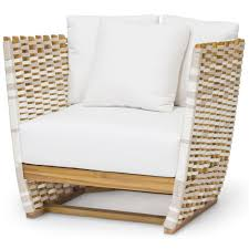 palecek san martin modern classic salt rope wrapped outdoor lounge chair kathy kuo home