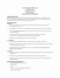Sample Resume Objectives For Paraprofessional Valid Special
