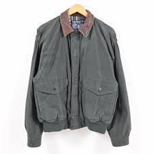 90s nautica nautica leather collar sailing jacket men l waw5886