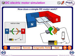 electric motor physics. DC Electric Motor Simulation Physics T
