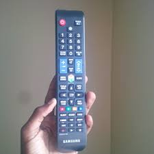 samsung smart tv remote. the smart hub button as shown on this illustration of samsung tv remote tv