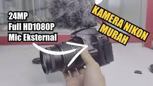 Review Kamera DSLR Nikon Termurah Buat Youtuber dan Sudah 24MP - Nikon  D3200 - YouTube