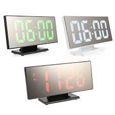 <b>Digital Alarm Clock</b> LED Mirror Clock <b>Multifunction</b> Snooze Display ...