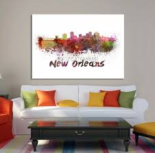 large wall art watercolor new orleans skyline canvas print on large new orleans wall art with large wall art watercolor new orleans skyline canvas print extra