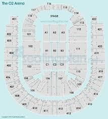 The O2 Arena Detailed Seating Plan