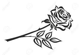 いばらの冠を黒と白のバラのイラスト