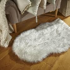 area rugs ivory fake bear rug rabbit fur rug