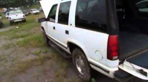 GovDeals: 1999 Chevy Tahoe 4 door white in color with 169,32 - YouTube