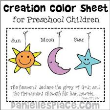Small Picture God Created the Sun Moon and Stars Coloring Sheet from www