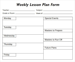 Weekly Lesson Plan Templates Free Printable Special Education Lesson Plan Templates Download
