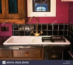 Black Splashback Kitchen White Kitchen Splash Back Stock Photos White Kitchen Splash Back