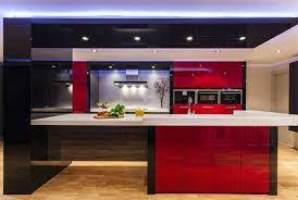 Color Scheme Idea 20 Red Black And White Kitchen Designs Home Design Lover