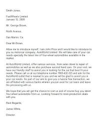 Business Partnership Letter Template – Pitikih