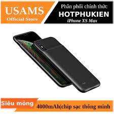 Ốp lưng siêu mỏng kiêm Pin sạc dự phòng 4000 mAh cho iPhone XS Max hiệu  Usams - Hàng chính hãng