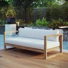 unity outdoor patio teak sofa teak