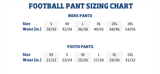Youth Pants Size Chart 40 Unusual Rawlings Pants Size Chart
