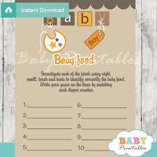 Orange Brown Baby Blocks Baby Shower Games D154 Baby Printables