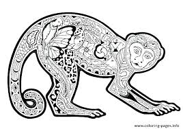 Printable Monkey Coloring Pages Free Printable Monkey Coloring Pages