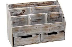 Wooden office desks Fancy Vintage Rustic Wooden Office Desk Organizer Mail Rack For Desktop Tabletop Or Counter Slphotography Interior Decorating Secrets Amazoncom Vintage Rustic Wooden Office Desk Organizer Mail Rack