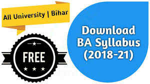 all fee download ba part 1 syllabus 2018 21 free download all university bihar