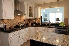 two diffe granite colors kitchen 3