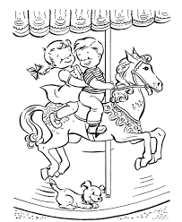 Small Picture Carousel Ride Summer Coloring Pages Carousel Pinterest Holidays