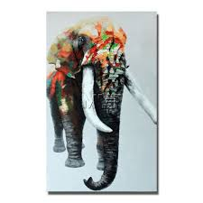 indian elephant wild animal wall art paintings dropship for whole s promotion hand drawing animal wall