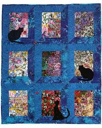 "Quilt Inspiration: Free pattern day: Cat and Dog quilts! & Happy Cats quilt, 38 x 48"", free pattern by Caroline Reardon for project  Linus at Quiltmaker (PDF download) Adamdwight.com"