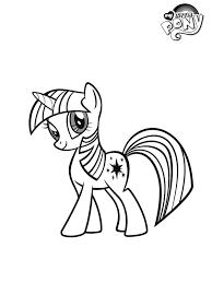 Kleurplaat My Little Pony Twilight Sparkle Kleurplatennl