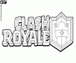 Kleurplaat Logo Van Clash Royale Video Game Kleurplaten