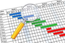 увеличитель d и планово контрольный график Иллюстрация штока   увеличитель 3d и планово контрольный график Иллюстрация штока изображение 44403542