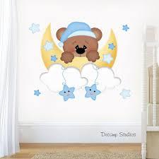 teddy bear decal baby boy nursery wall