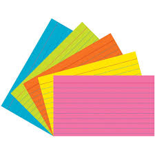 3x5 Cards Super Bright Index Cards 3x5 Ruled